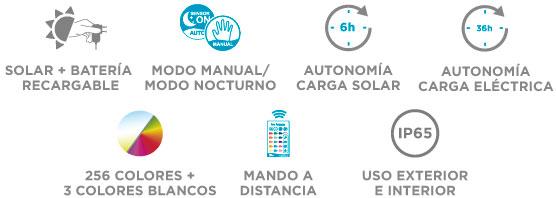 Solar + Batería Recargable